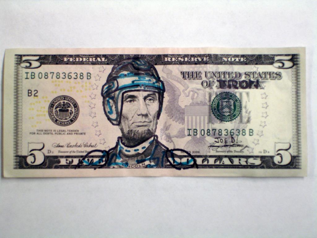 lincoln 5 dollar